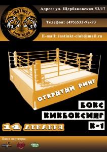 ДЛЯ САЙТА Афиша (открытый ринг) 14 декабря 2014