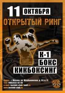 ОТКРЫТЫЙ РИНГ_Инстинкт(11 окт2015)